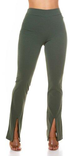 Bootcut nohavice s elastickým pásom