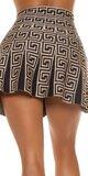 Áčková sukňa labyrint Cappuccino