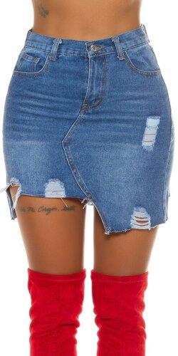 Džínsová rocková sukňa