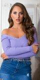 Dámsky V sveter Lilac