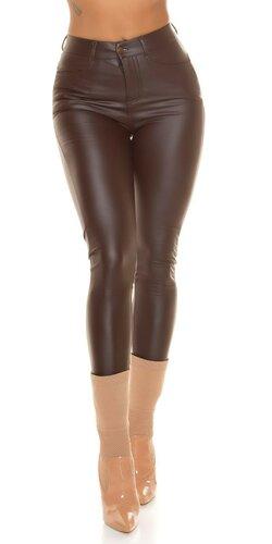 Dámske termo koženkové nohavice