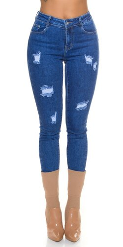 Tmavomodré push up džínsy