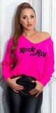 ROCK N ROLL pulóver Ružová