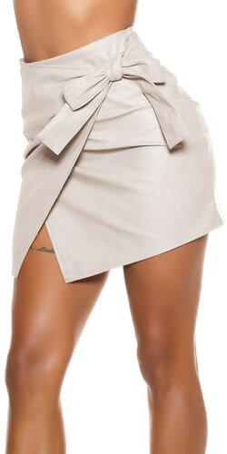 Koženková sukňa s viazaním