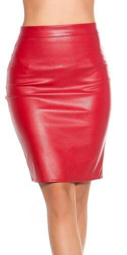 Koženková sukňa matná s rovným strihom