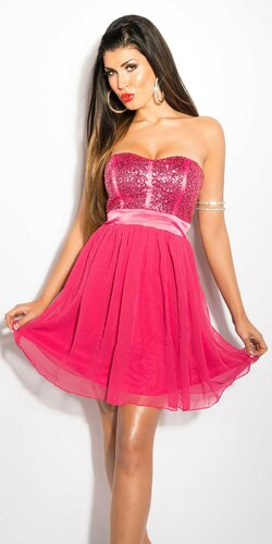 Dámske mini šaty s voľnou sukňou | Ružová