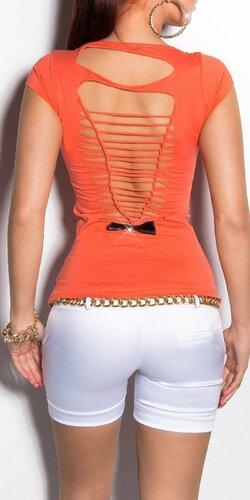 Dámske letné tričko s výstrihom na chrbte v 11 farbách | Koralová
