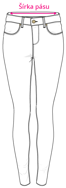 Tabuľka veľkostí - džínsy / rifle